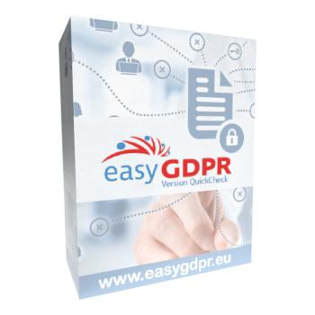 Softwarebox von easyGDPR Quichcheck - der DSGVO Schnellanalyse